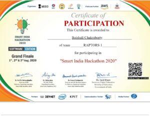 Baishali Certificate