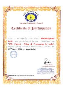 Mallanagouda Patil certificate-1