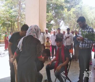 Street play on Tuberculosis BLDE Hospital premises